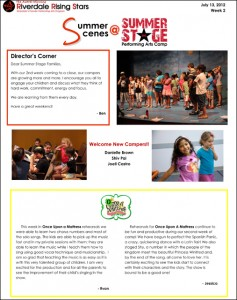 Summer Stage 2012 Newsletter Week 2