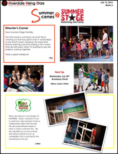 Summer Stage Newsletter 2012 - Week 3
